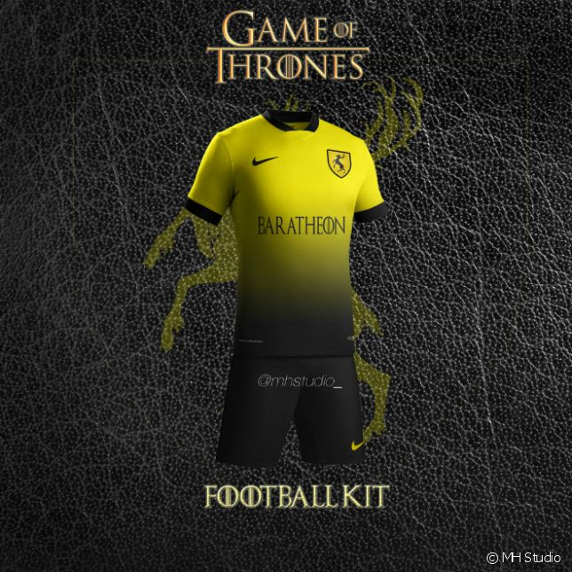 les maisons de game of thrones version clubs de foot. Black Bedroom Furniture Sets. Home Design Ideas