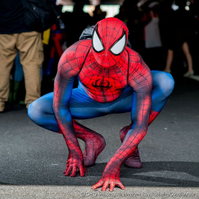 Un cosplay de Spiderman.