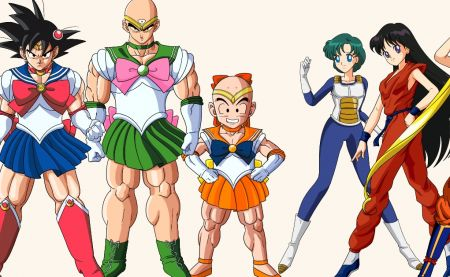 Il mixe les personnages de Dragon Ball et Sailor Moon
