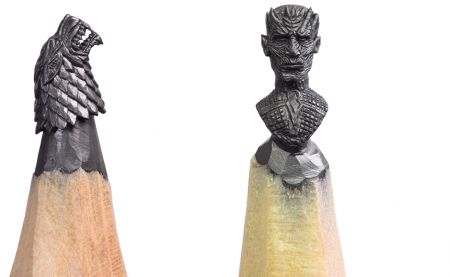 L'univers de Game of Thrones sculpté dans des mines de crayons